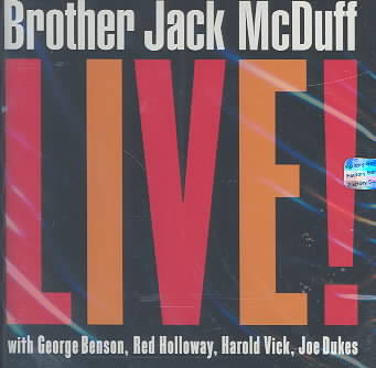 BROTHER JACK MCDUFF LIVE BY MCDUFF,JACK (CD)